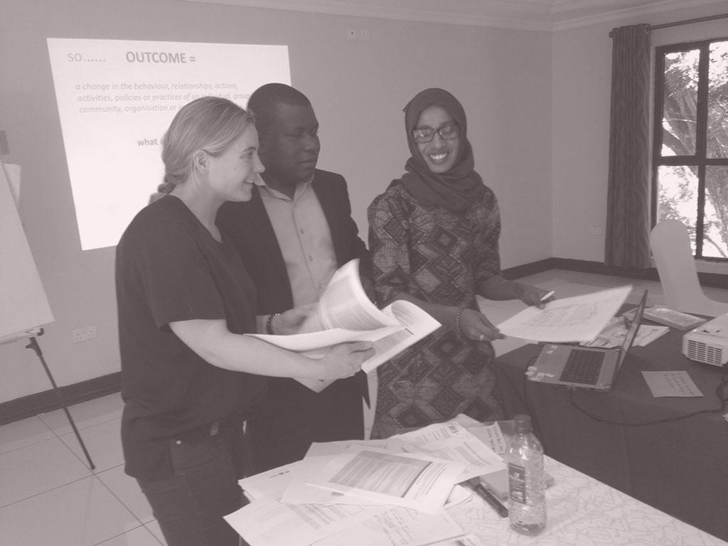 Sanne Vermeulen from Social Side Up at work in Kenya